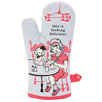 Blue q - this is f**king delicious oven mitt