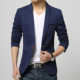 Mens One Button Slim Fit Blazer
