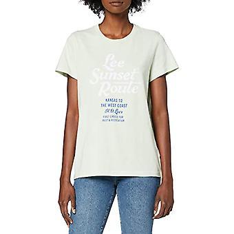 Lee Graphic Tee T-Shirt, Verde (Summer Green Nk), S Donna