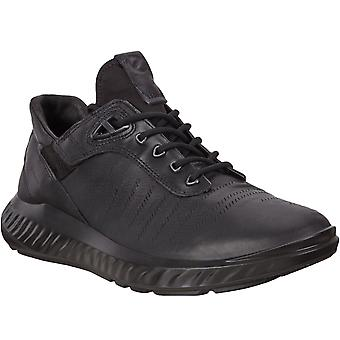 ECCO Mens ST.1 Lite Leather Outdoor Trail Trainers Sneakers Shoes - Black