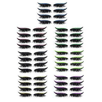 28 Pairs Waterproof Reusable Eyeliner and Eyelash Stickers (7 Colors)