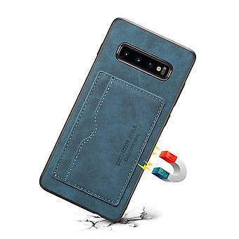 Læderetui med tegnebogskortplads til Samsung S10E blå