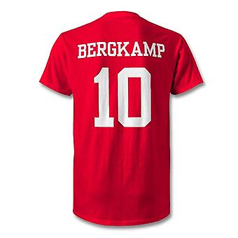Dennis bergkamp arsenal lenda herói t-shirt