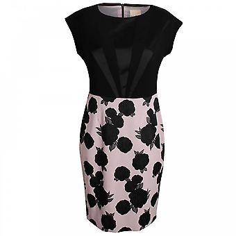 Paola Collection Sleeveless Roses Design Shift Dress