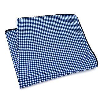 Sininen & valkoinen risti kuvio suuri 33cm tasku neliö