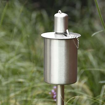 Esschert Design Gartenfackel mit Erdspieß Edelstahl