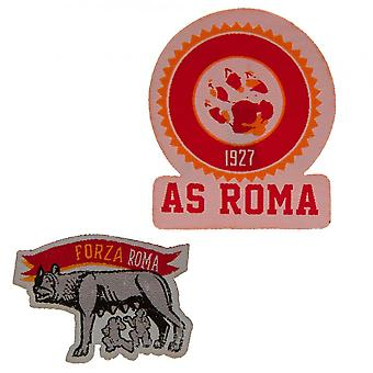 AS Roma Iron On Patch Set (Pack of 2)