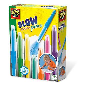 SES Creative Children's Blow Airbrush Pens Activity Set