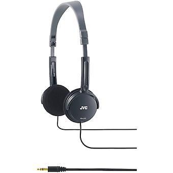 JVC vikbara lätta stereohörlurar svarta