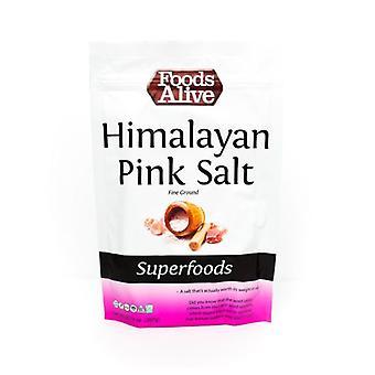 الأطعمة على قيد الحياة ملح الهيمالايا الوردي، 14 أوقية