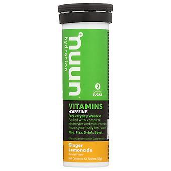 Nuun Vitamin Caff Gngr Lmnade, Case of 8 X 12 TB