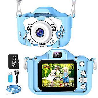 Dětská kamera Sinceroduct, digitální duální fotoaparát 20,0MP s 2,0 rovnočistou obrazovkou IPS, s 32G SD kartou (modrá)
