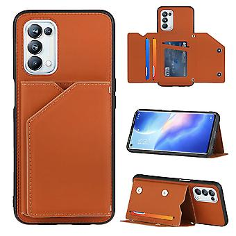 Case For Oppo A93 5g Vintage Cuir Cover Leather Case Bumper - Marron