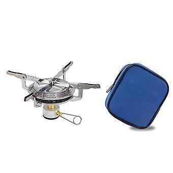 バックパッキングストーブポータブルキャンプストーブバーナー、小型バックパックストーブ、軽量ハイキングストーブ(キャリングケース付き)