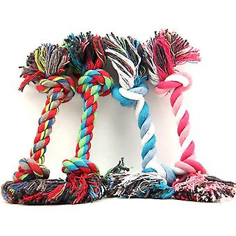 2Pcs pet dog toys puppy cotton chew knot durable braided bone rope pets cat toy for small dogs pet supplies