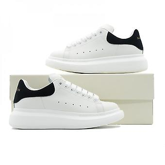 Men's Casual Oversized Sneakers White Pu Leather Platform Running Sports Shoes