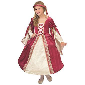 Engelsk Princess Designer Deluxe renessanse middelaldersk bok uke jenter kostyme