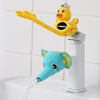 Cartoon Water Tap Extender Bébé Lavage des mains Robinet Extension Tuyau d'eau anti-éclaboussures (#08)