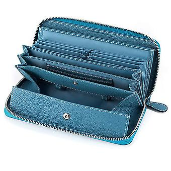 Japanese leather lady long zipper lychee pattern wallet(Color-2)