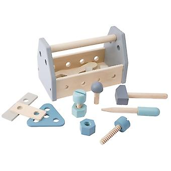 Best Quality Traditional Wooden Tool Box Playset | Kids Toy Gift