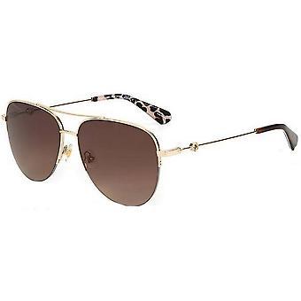 Kate Spade Maisie Óculos de Sol - Dark Havana Brown/Gold