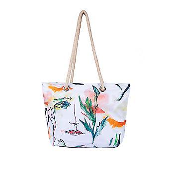 Biggdesign White Faces Beach and Shopping Bag