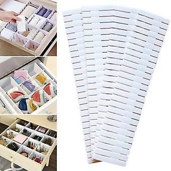 (4PCS) Justerbare skuffe dividere Arrangør Storage Box DIY Lingeri Sokker Separatorer