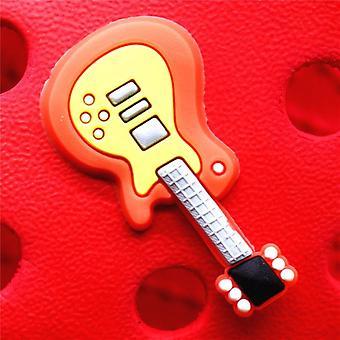 Zapato Encantos Guitarra Pvc Croc Accesorios Decoraciones