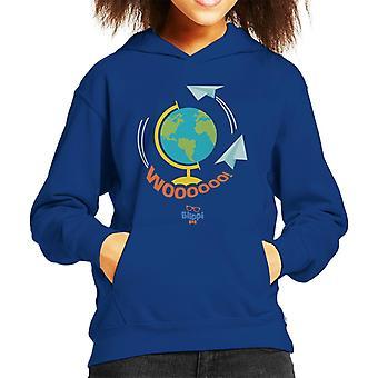 Blippi Travel The World Woooooo Kid's Hooded Sweatshirt