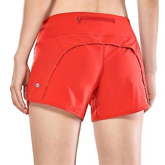 Women''s Athletic Workout Sports Shorts With Zip Pocket
