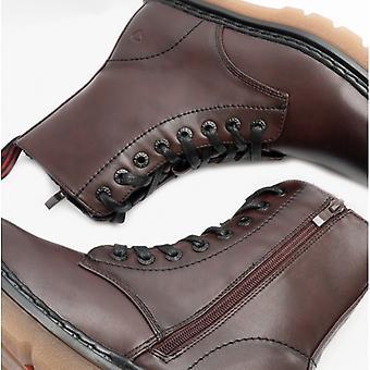 Heavenly Feet Justina Ladies Ankle Boots Burgundy
