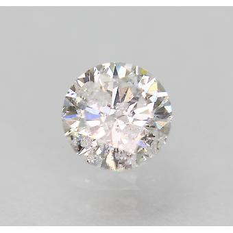Sertifioitu 0,36 karat D Väri SI3 Pyöreä Brilliant Natural Loose Diamond 4.66m 3VG