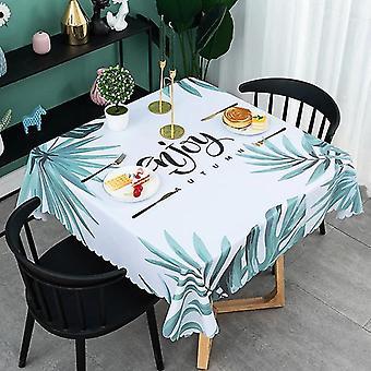 90cmホーム防水テーブルクロス、ノルディックテーブルクロスデコレーションマット テーブルクロス(ライトグリーン)