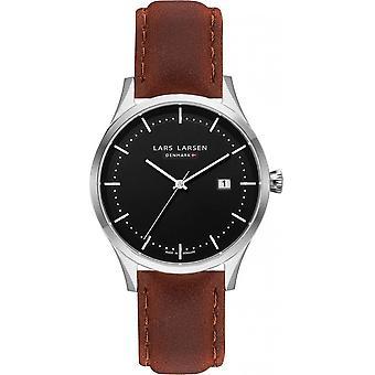 LLarsen (Lars Larsen Brown Genuine Leather) 119SBBRL Men's Watch