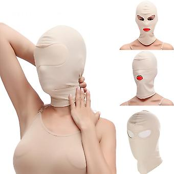 Role Play Costume With Full Face Mask Hood For Cosplay Halloween Sexy Lingerie Party,open Eyes And Mouth Headgear,intimacy Goods