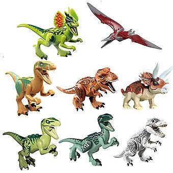 8szt Jurassic Dinosaur Building Blocks Mini Zabawki
