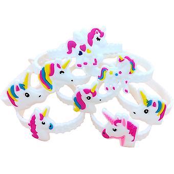 48buc Rainbow Bratari Brățări Brățări pentru ziua de nastere Petrecere consumabile favoruri