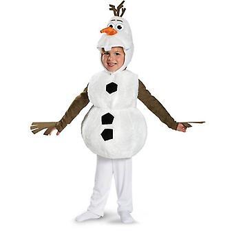 Comfy Deluxe Plys Yndig Barn Halloween Kostume til Toddler Kids Favorit Cartoon Movie Snemand Party Dress-up