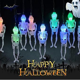 Dekoracje Halloween Szkielet Czaszka String Lights, Halloween Decor
