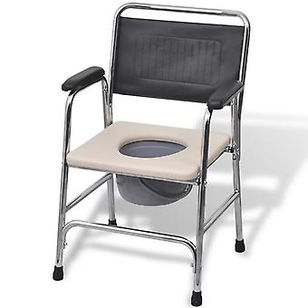 Portable toilet��Commode Chair Steel Black