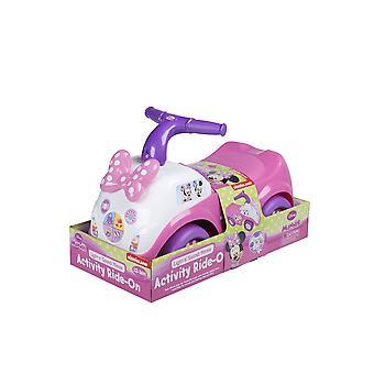 Pink Ride-on Minnie Mouse lys & lyd børn aktivitet fremstillet af plast
