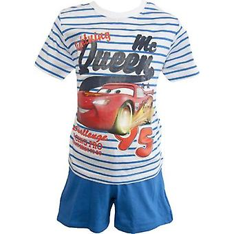 Disney Cars drenge Shortie Pyjamas striber