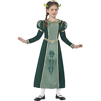 Fantasia de Fiona conjunto vestido crianças Shrek original Fionakostüm