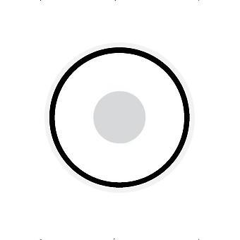 Manson białe soczewki kontaktowe 1 day obiektywów z pierścieniem Halloween