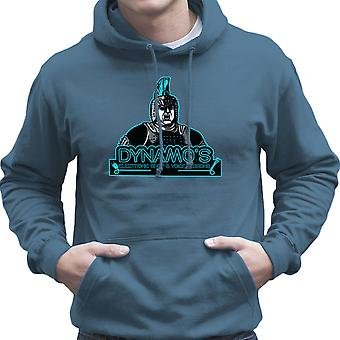 Dynamos Electronic Shop and Voice Lessons Running Man Men's Hooded Sweatshirt
