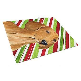 Teckel Candy Cane vacances Noël verre planche Large
