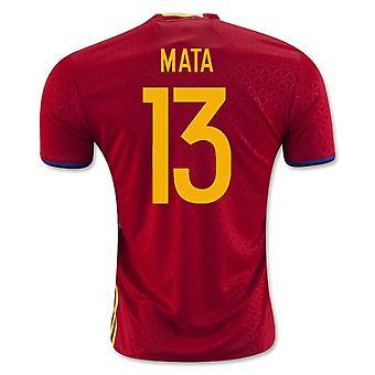 2016-2017 Španělsko domácí košile (Mata 13)