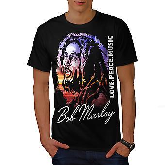Bob Marley Love Celebrity miehet BlackT-paita | Wellcoda