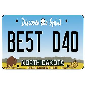 North Dakota - Best Dad Nummernschild Auto Lufterfrischer