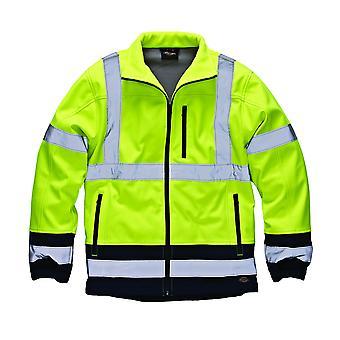 Dickies Mens Two-Tone Hi-Vis Waterproof Softshell Jacket